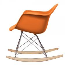 Eames Inspired Rocking Chair Buy Eames Style Burnt Orange Retro Rocking Chair From Fusion Living