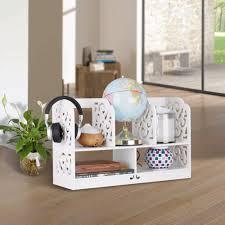 5 shelf desk organizer finether 2 tier cut out wood plastic composite shelf unit desktop