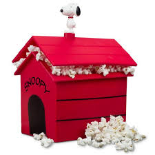 snoopy on his dog house new peanuts dog house microwave popcorn popper smartplanet