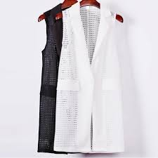 aliexpress com buy women white black long vest coat europen