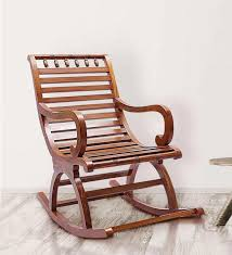 Rocking Chair Buy Chelmsford Teak Wood Rocking Chair In Composite Teak Finish By