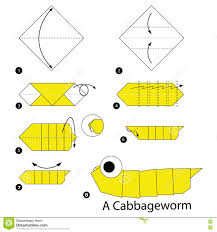 How To Make A Paper Worm - step by step how to make origami a cabbage worm