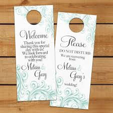 hotel gift bags for wedding guests set of 10 door hanger for wedding hotel welcome bag do not