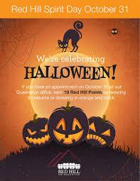 halloween spirit days red hill orthodontics spirit day october 31