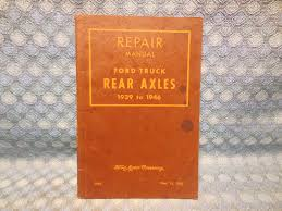 1939 1946 ford truck rear axles original oem repair manual 1940