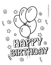 happy birthday grandma coloring page draw 6063
