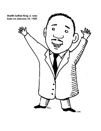 cartoon drawing of martin luther king jr coloring page january