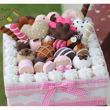 free cut jewelry cake boxes dia 22cm fabric cake gift box pack