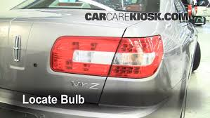 2012 ford fusion tail light bulb rear turn signal replacement lincoln mkz 2006 2010 2010 lincoln