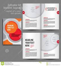 a4 booklet layout design template with cover stock vector image