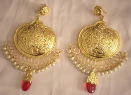 punjabi jhumka earrings made gold plated traditional punjabi jewellery earrings