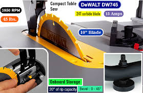 dewalt dw745 review best portable table saw for the money