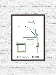 L Chicago Map by Chicago L Train Metro Map Transit Map Subway Map Subway