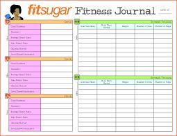 Fitness Journal Template Printable fitness journal printable pertamini co