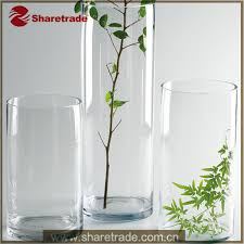 Cheap Plastic Vase New Window Decoration Plastic Transparent Arylic Cheap Tall