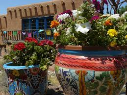 farm and table albuquerque colorful pots in front of farm table restaurant new mexico