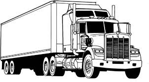 Amazing Semi Truck Coloring Page Netart Coloring Truck Pages