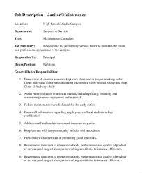 custodian resume skills janitor sle resume template