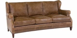 wingback couch wingback leather sofa with nailhead trim