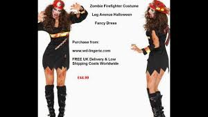 zombie firewoman costume ladies bloody fire woman