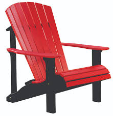 Outdoor Adirondack Chairs Four Seasons Furnishings Amish Made Furniture Luxcraft Poly