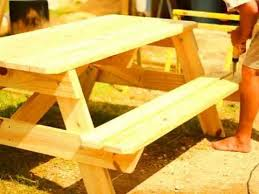 Free Picnic Table Plans 8 Foot by Picnic Table Assembly Video For 6 And 8 Foot Picnic Tables Youtube