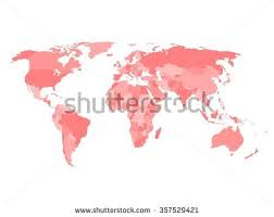 blank political map of canada blank political map world four shades stock vector 357529421