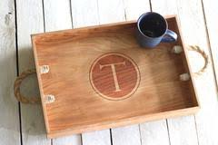 monogrammed serving tray serving trays richwood creations