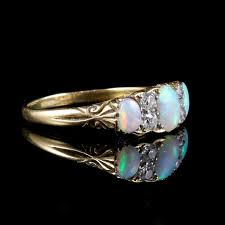 turquoise opal engagement rings antique victorian opal diamond ring 18ct gold circa 1880 c 1880