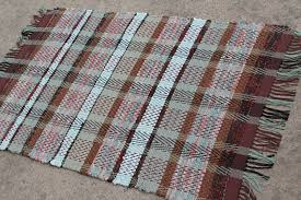 Kitchen Rag Rugs Washable Hollywood Weave Loom Woven Rag Rug Brown Kitchen Rag Rug