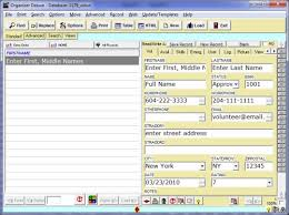 database template free volunteer manager 1 database template for organizer deluxe