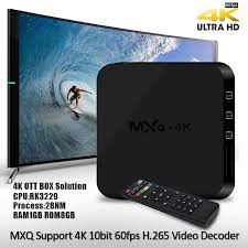 smart android mxq 4k rk3229 tv box android 4 4 1g 8g h 265 10bit wifi lan kodi hdmi