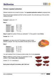 division using repeated subtraction k 8 math pinterest