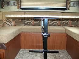rv table pedestal adjustable rv table leg base images table decoration ideas