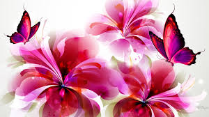 flower power flowers pink summer abstract red bright paint spring