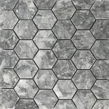 light grey hexagon tile 2 inch hexagon mosaic tile light grey marble polished