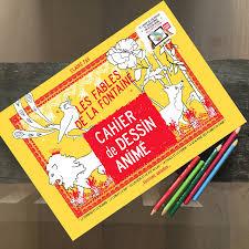 cahier de gribouillages pour adultes qui s ennuient au bureau cahier de dessin animé les fables de la fontaine