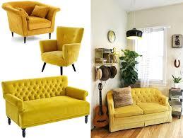 canap fauteuil pas cher canape et fauteuil pas cher canapac et fauteuil en velours jaune