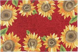 Brumlow Mills by August Grove Valois Sunflower Field Red Yellow Indoor Outdoor Area