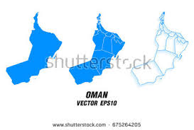 vector maps set vector maps vector map omanvector stock vector 675264205