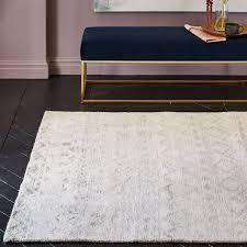 ivory rugs banded motif rug ivory west elm