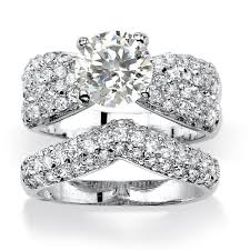 real crystal rings images Wedding favors wedding rings sets cheap affordable design real jpg