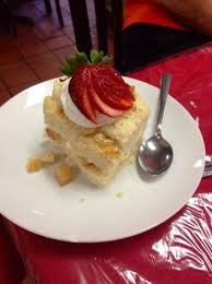 two layer tres leches was a great dessert picture of los agaves