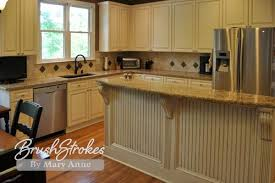 Painted Glazed Kitchen Cabinets Pictures by Kitchen Cabinets Brushstrokes By Mary Anne Chalk Paint Milk