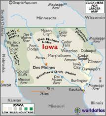 iowa map with cities iowa map geography of iowa map of iowa worldatlas com