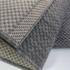 Weave Rugs Nardella Plain Charcoal Grey Flat Weave Rug With Basket Weave