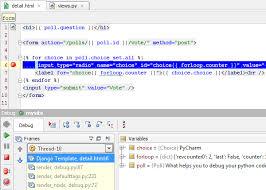 django templates debugging with pycharm pycharm blog