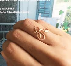 custom initial rings gold filled custom initial ring wire ring initial ring
