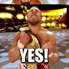 Yes Yes Yes Meme - wwe yes daniel bryan excited animated gif popkey