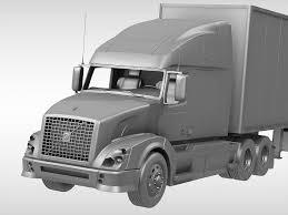 volvo truck 2011 models volvo vnl670 2016 3d model cgtrader